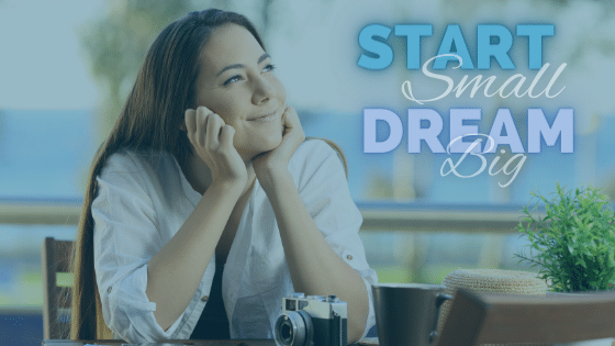 Woman dreaming of business success